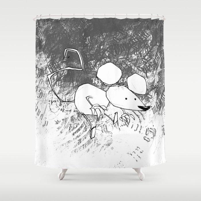 minima - deco mouse Shower Curtain