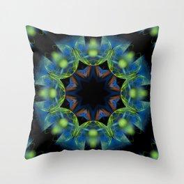 Floral Tribute Mandala Throw Pillow