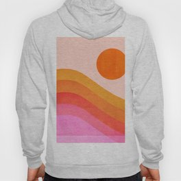 Abstraction_SUNSET_OCEAN_COLOR_POP_ART_Minimalism_009D Hoody