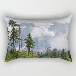 MOUNT SHUKSAN EMERGING THROUGH THE CLOUDS Rectangular Pillow
