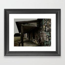 graffiti house Framed Art Print