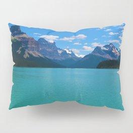 """Hall of Gods"" Maligne Lake in Jasper National Park, Canada Pillow Sham"