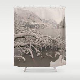 Frozen Lake Bohinj Shower Curtain