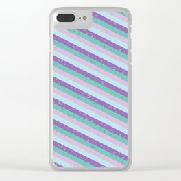 Pastel Diagonal Stripe Pattern Clear iPhone Case