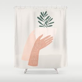 give plants, spread love Shower Curtain