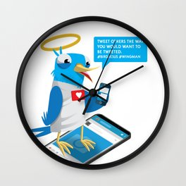 Tweet People the way you want to be Tweeted Wall Clock