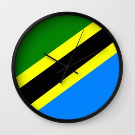 Flag of Tanzania Wall Clock