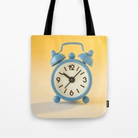 watch Tote Bags featuring watch by laika in cosmos