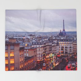 Rainy Paris. Throw Blanket