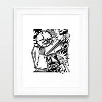 notebook Framed Art Prints featuring Open Notebook by David Chestnutt