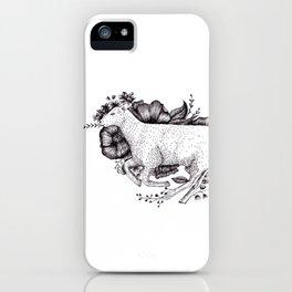 Sheep - Go Vegan iPhone Case