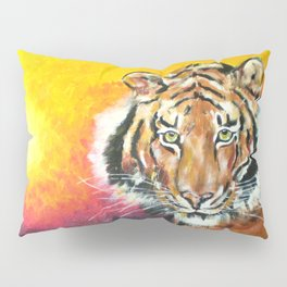 Awaiting the Darkness of Night (Male Tiger) Pillow Sham