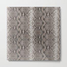 Python Snakeskin Print Metal Print