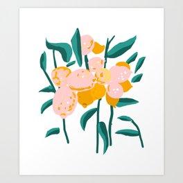 Lemon Love #painting #botanical Art Print