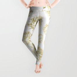Gold Roses Leggings