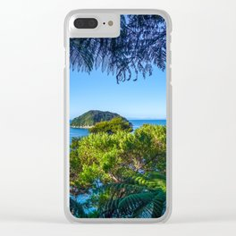 Track view in Abel Tasman National Park, New Zealand Clear iPhone Case