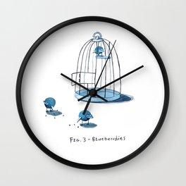 Blueberrdies Wall Clock