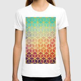 Golden geometric pattern IX T-shirt