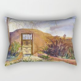 A Southwestern Gate Rectangular Pillow