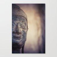 buddhism Canvas Prints featuring Buddha in Haw Phra Kaew, Laos by Maria Heyens