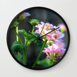 Lantana close up Wall Clock