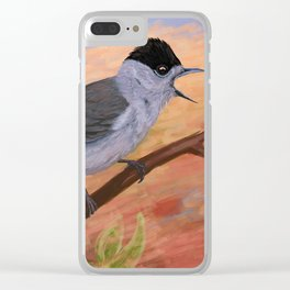 Blackcap in spring Clear iPhone Case