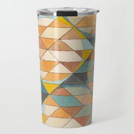 Triangles and Circles Pattern no.23 Travel Mug