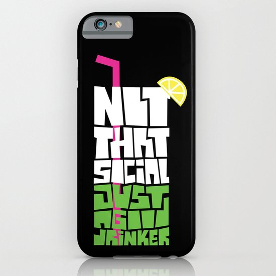 not that social just a good drinker iPhone & iPod Case