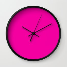 Hollywood Cerise - solid color Wall Clock