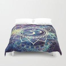 Om Mandala : Deep Pastels Galaxy Duvet Cover