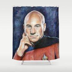 Captain Picard Shower Curtain
