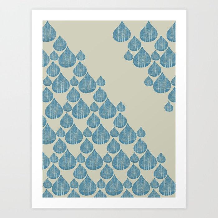 Blue drops Art Print