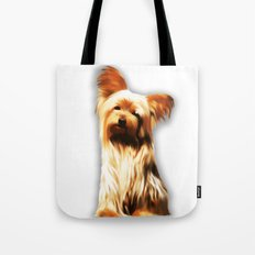 Yorkshire Puppy Tiny Dog Tote Bag