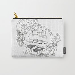 A Ship in the Harbor Carry-All Pouch