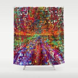 colourful peace Shower Curtain