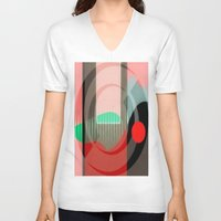 courage V-neck T-shirts featuring Courage by Kristine Rae Hanning