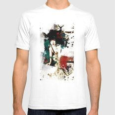 Visit Japan. Painterly Tourism Campaign Japanese style. White MEDIUM Mens Fitted Tee