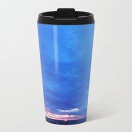 Cloudy Day Sunset on the Sea Travel Mug