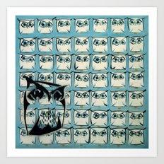 Sea of owls Art Print
