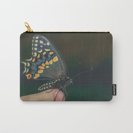 swallowtail butterfly on finger Carry-All Pouch