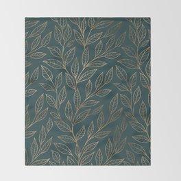 Botanical Pattern - Bronze N7 Throw Blanket