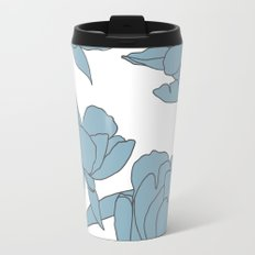 Roses in Blue Travel Mug