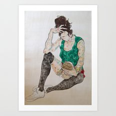 Her Doll Art Print