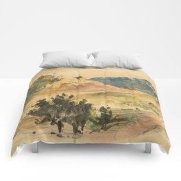 """Eugène Delacroix """"View of the mountains in Eaux-Bonnes"""" Comforters"""