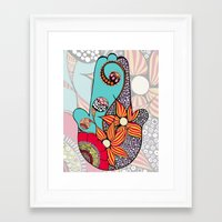 hamsa Framed Art Prints featuring Hamsa by Sophia Skipka
