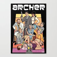 archer Canvas Prints featuring Archer by Alex Sollazzo