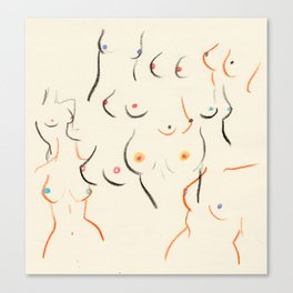 Breasts in Cream Canvas Print