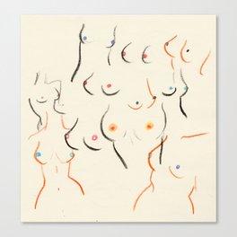 Breasts in Cream Leinwanddruck