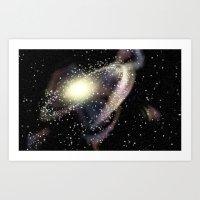 rileigh smirl Art Prints featuring Galaxy by Rileigh Smirl