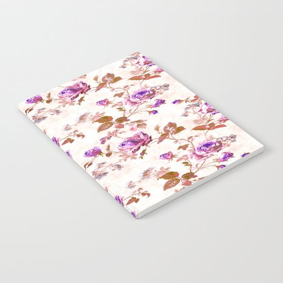 Purple Gold Roses  Notebook